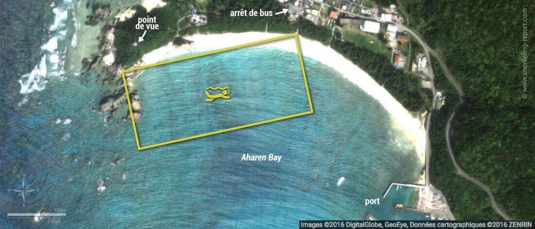 Carte snorkeling à Aharen Beach, Tokashiki Island