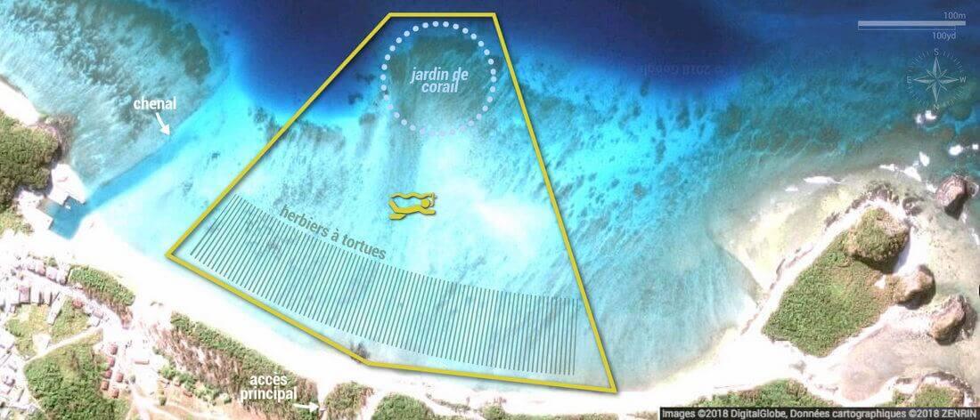 Carte snorkeling à Ama Beach, Zamami Island