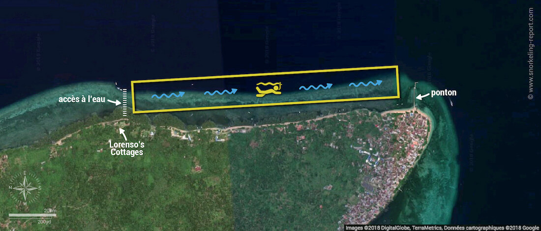 Carte snorkeling à Bunaken, Indonésie