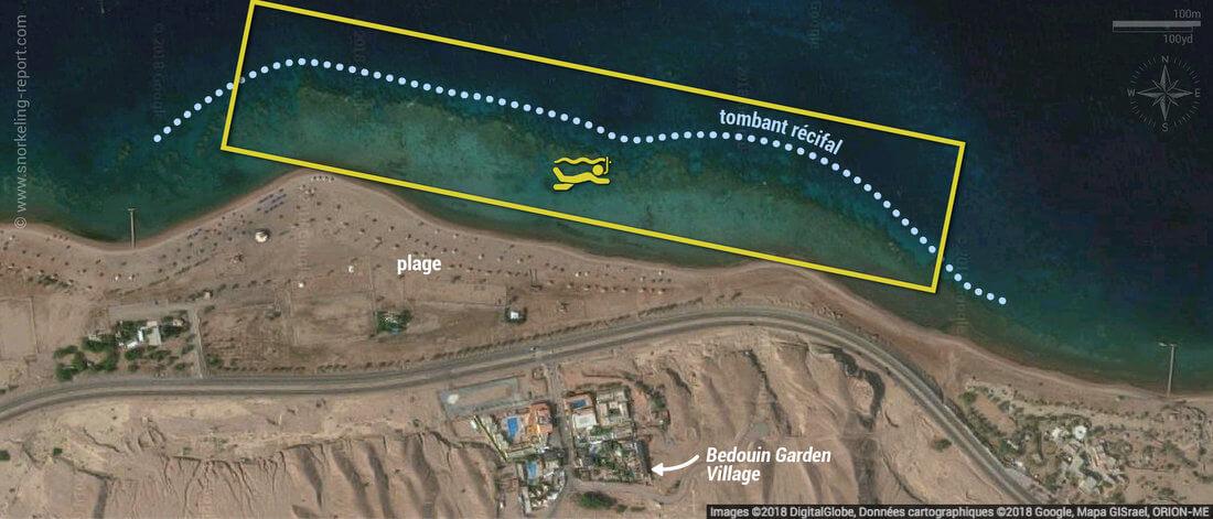 Carte snorkeling au Parc Marin d'Aqaba, Jordanie