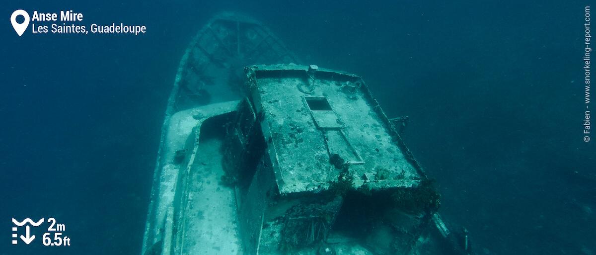 Lynndy shipwreck at Anse Mire