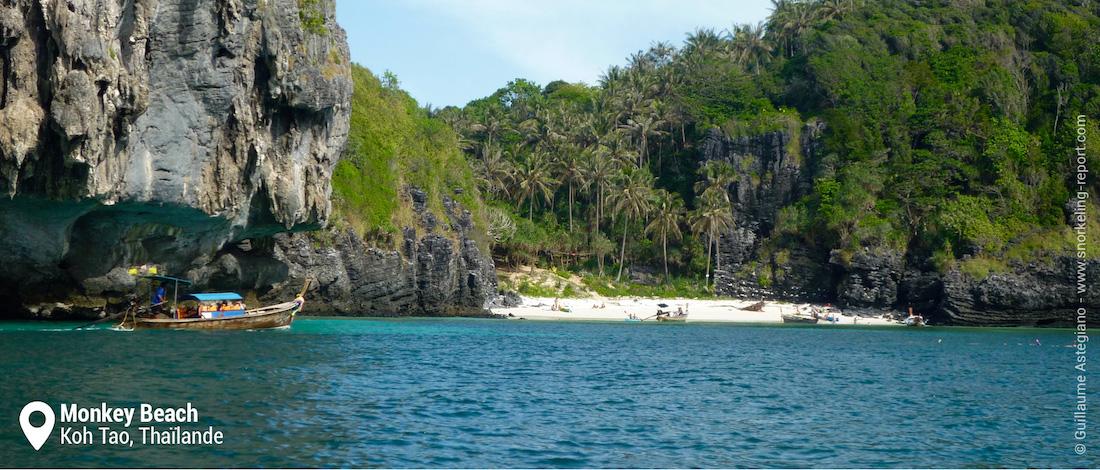 La plage de Monkey Beach, Koh Phi Phi