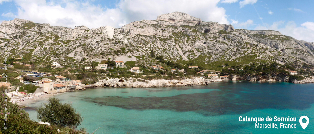 View of Calanque de Sormiou, Marseille