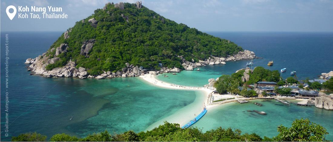 Vue sur le récif de Koh Nang Yuan, Thaïlande