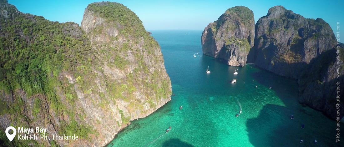 Vue sur le récif de Maya Bay, Koh Phi Phi