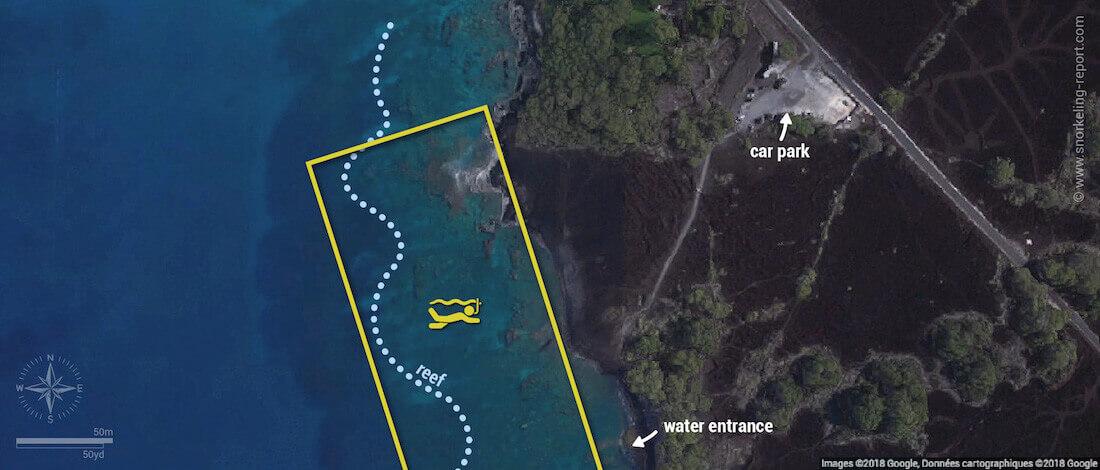 Ahihi Kinau Maui snorkeling map
