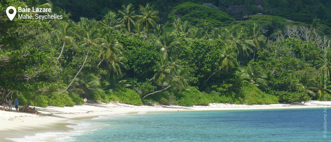 View of Baie Lazare beach, Seychelles