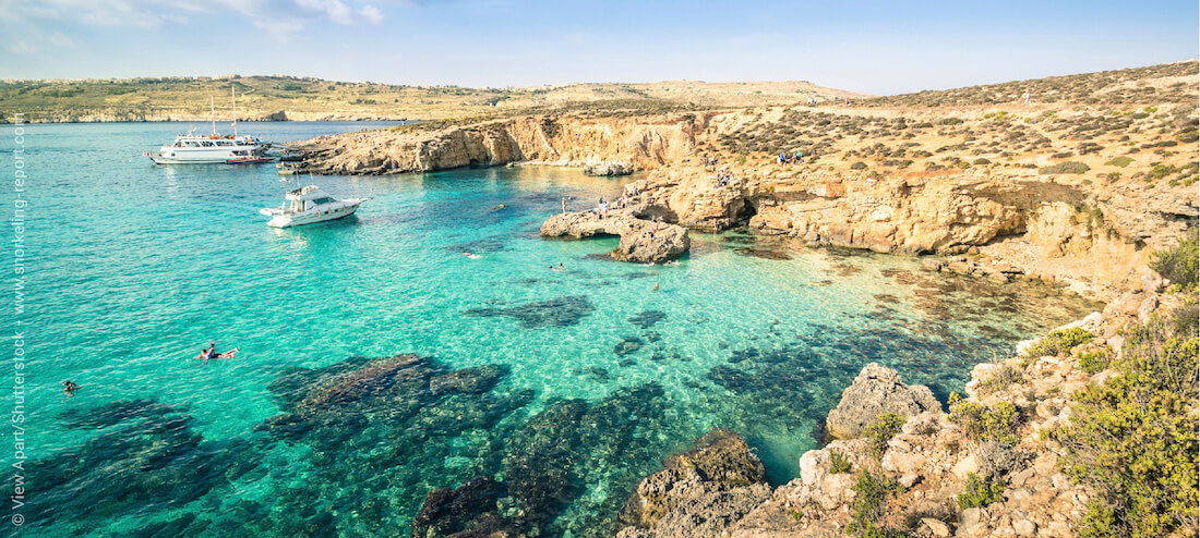 Snorkeling the Blue Lagoon of Comino, Malta