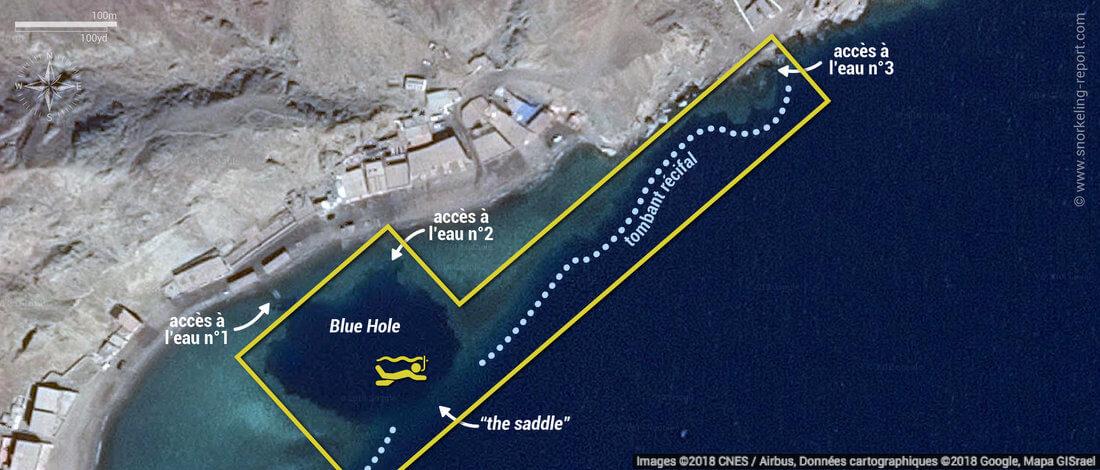 Carte snorkeling au Blue Hole de Dahab, Egypte