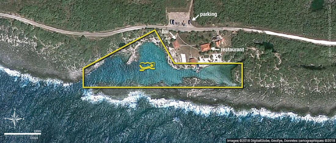 Carte snorkeling à Caleta Buena, Cuba
