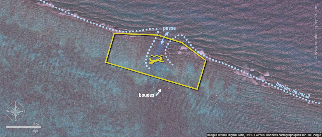 Carte snorkeling à Hol Chan Cut, Belize