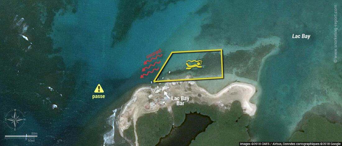 Carte snorkeling à Lac Cai (Lac Bay), Bonaire