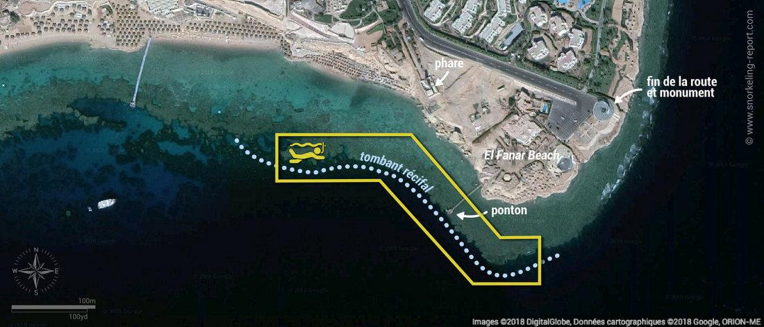 Carte snorkeling à Ras Um Sid, Sharm El-Sheikh, Egypte