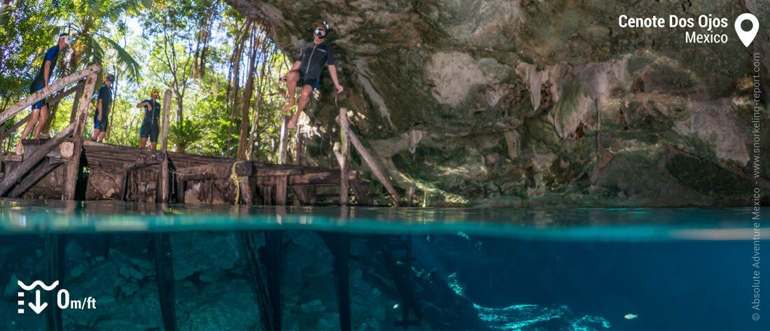 Snorkeling in Cenote Dos Ojos caves