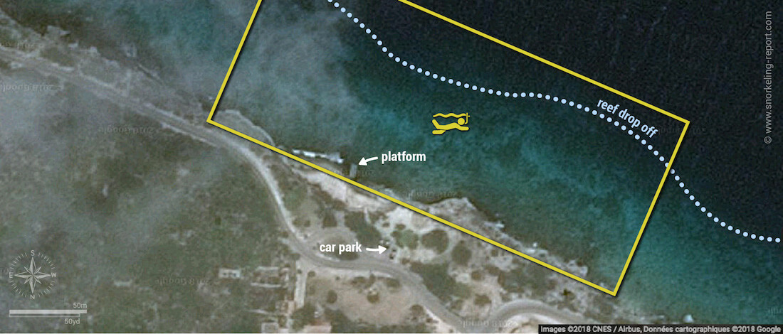 Karpata snorkeling map, Bonaire