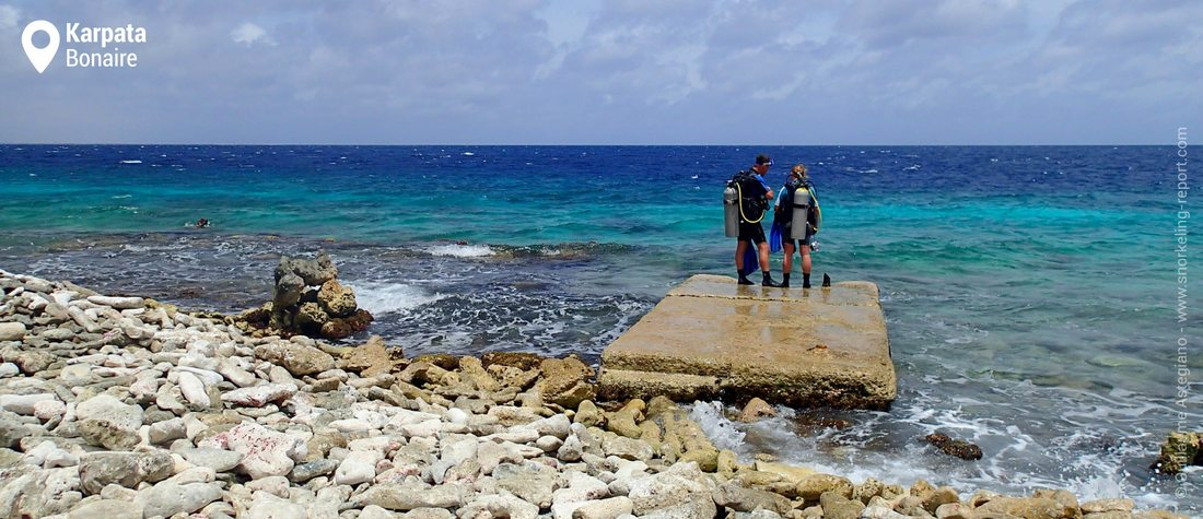 Karpata water entrance - Snorkeling Bonaire