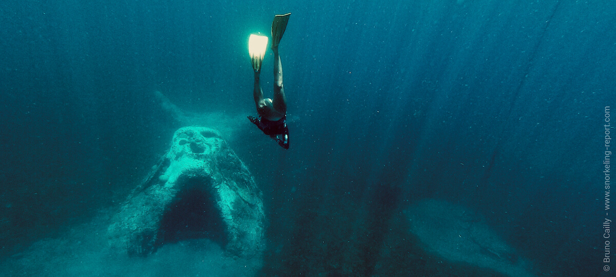 Snorkeling sur la sculpture Manman Dlo