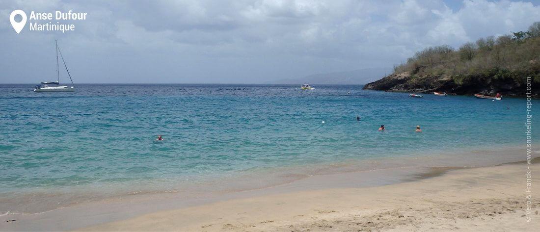 La plage de l'Anse Dufour, Martinique