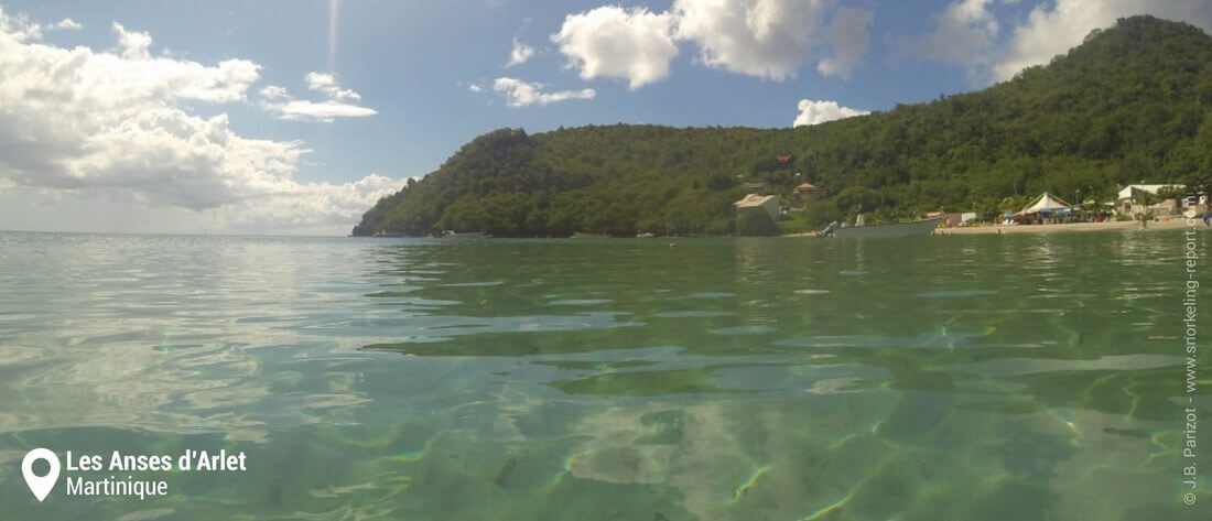 La plage des Anses d'Arlet, Martinique