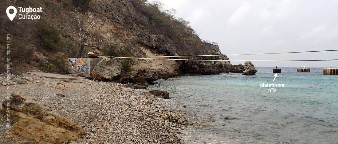 Plage du Tugboat, Curaçao
