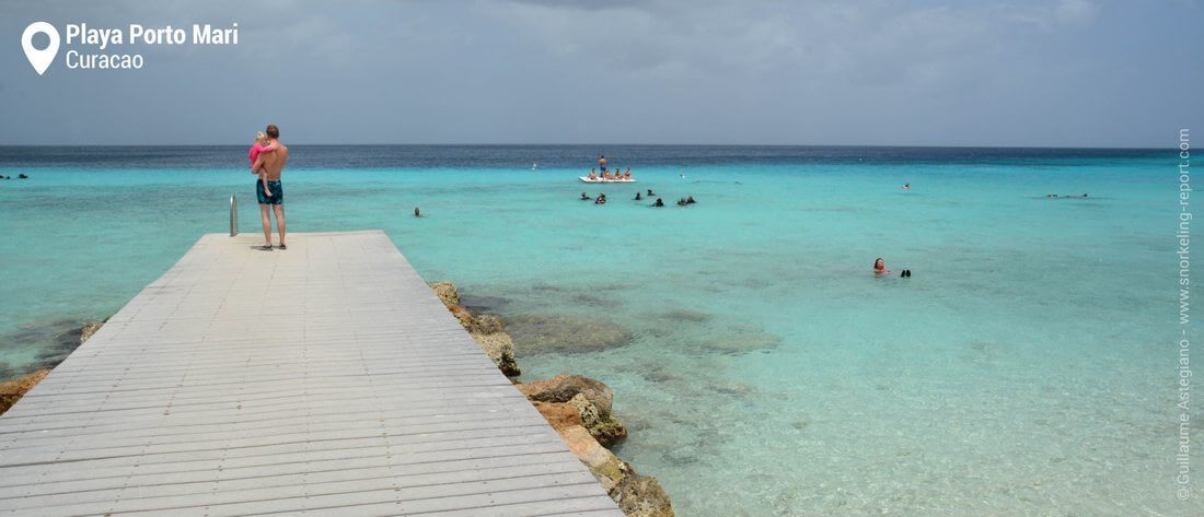 Playa Porto Mari beach deck, Curacao