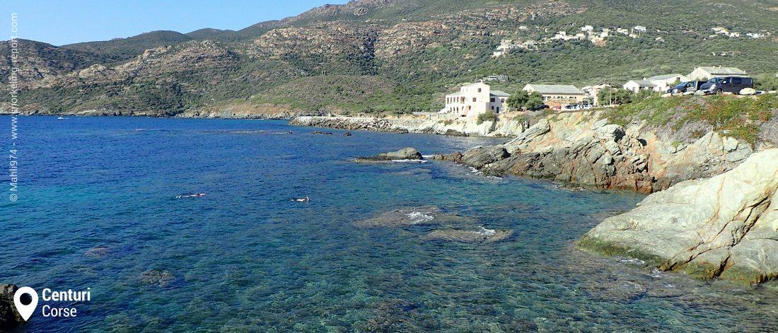Vue sur la zone de snorkeling de Centuri, Corse