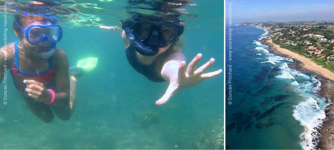 Snorkeling dans les Tidal Pools d'Afrique du Sud