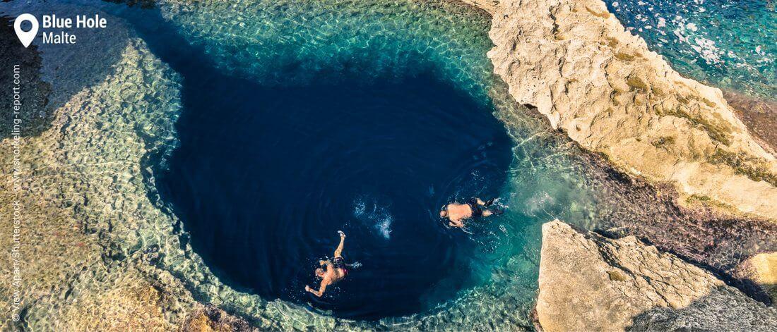 Snorkeling au Blue Hole, Malte