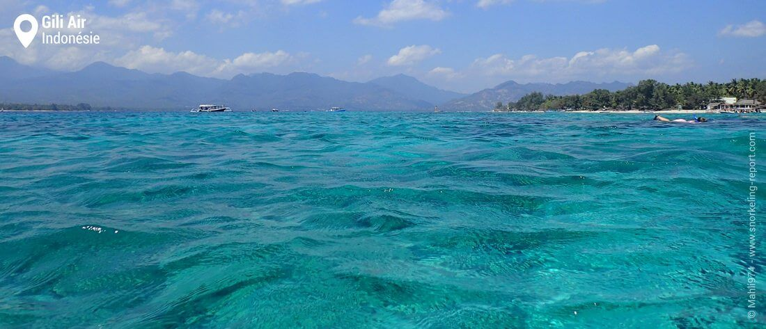 Snorkeling à Gili Air, Indonésie
