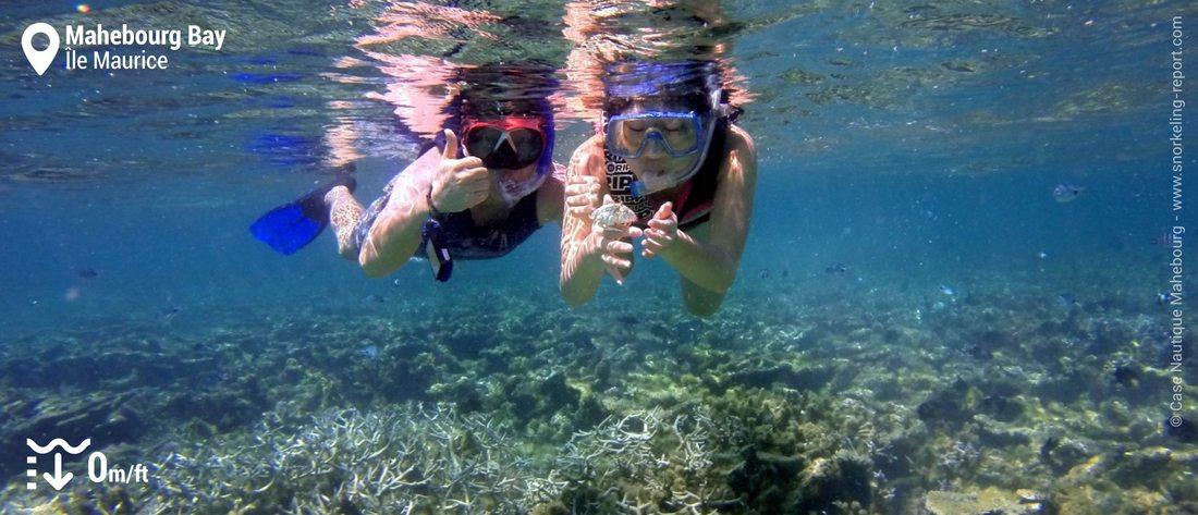 Snorkeling sur le récif de Mahébourg, Maurice