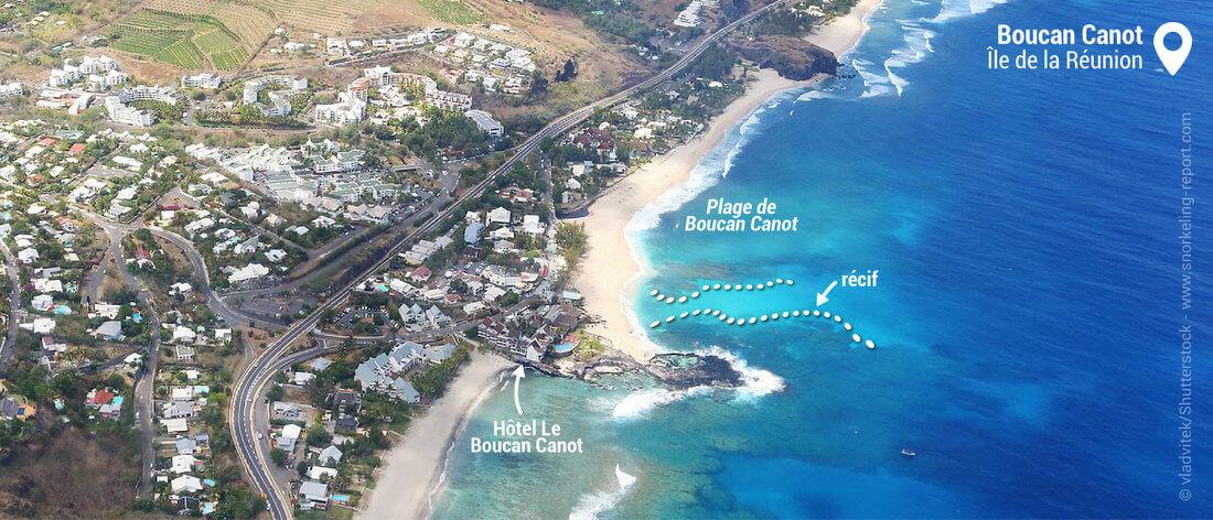 Vue aérienne de Boucan Canot, La Réunion