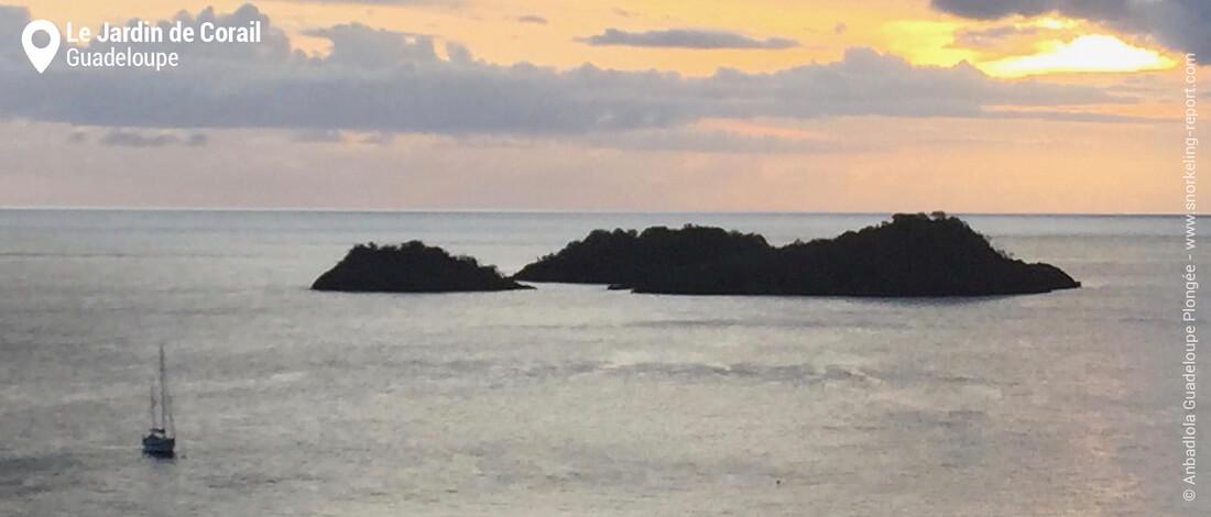 Vue sur les îlets Pigeon, Malendure, Guadeloupe