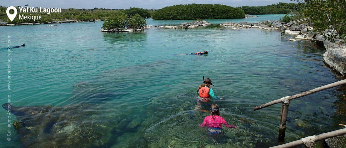 Snorkeling au Yal Ku Lagoon, Mexique