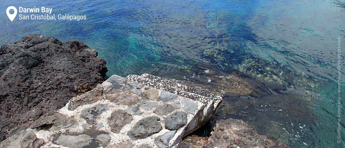 Darwin Bay snorkeling access, San Cristobal