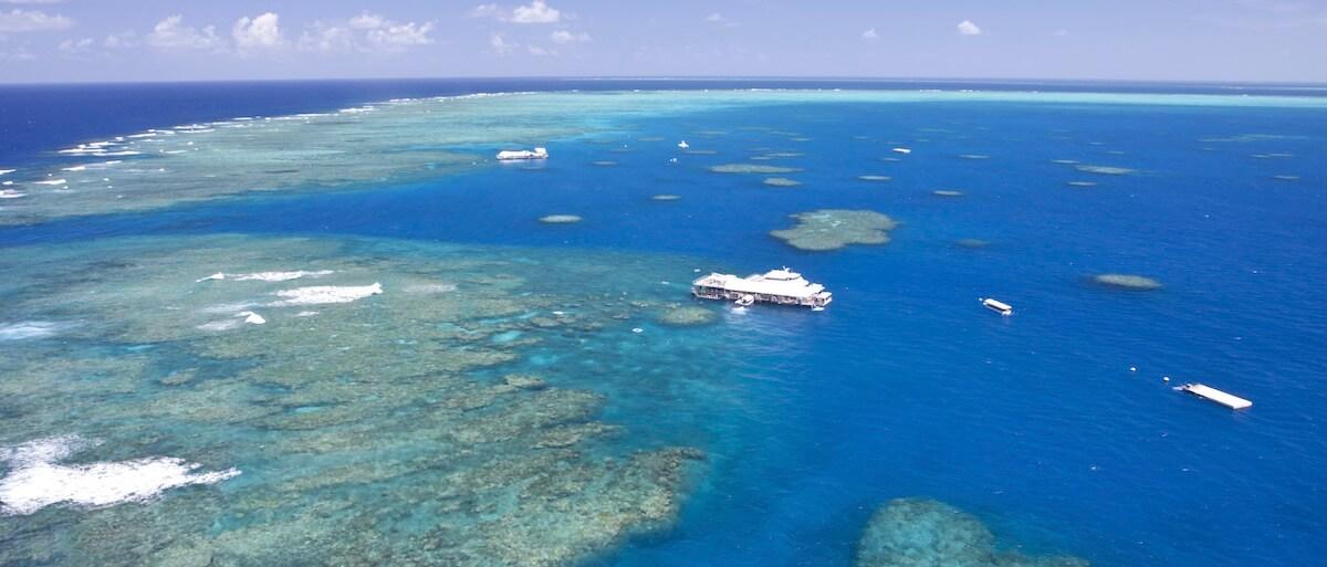 Floating platforms at Moore Reef
