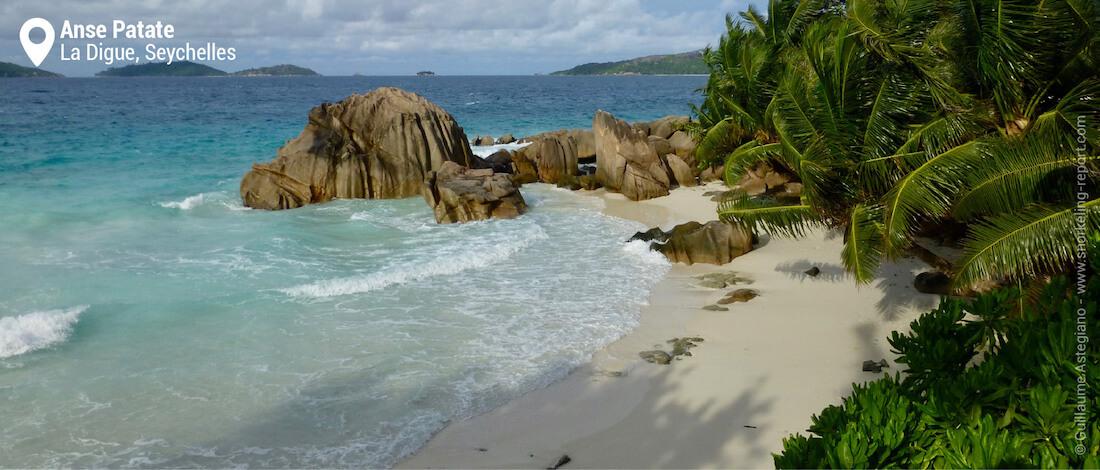 La plage de l'Anse Patate, Seychelles