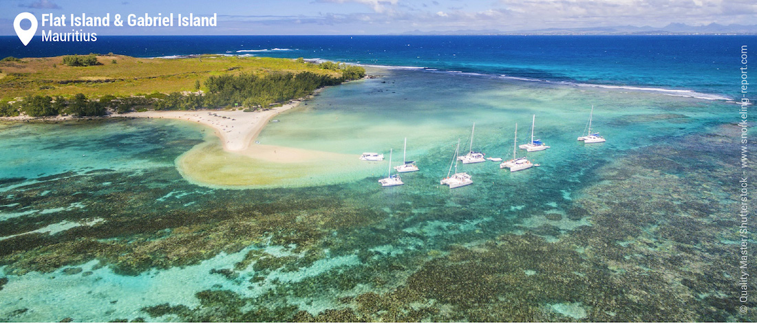 View on Gabriel Island, Mauritius
