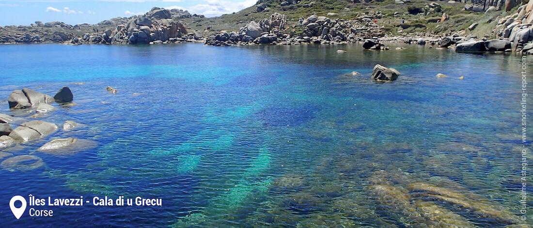 Cala di u Grecu, Îles Lavezzi