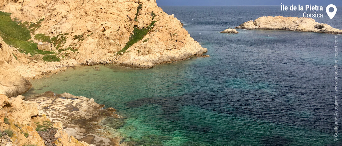 View over Ile de la Pietra, Corsica