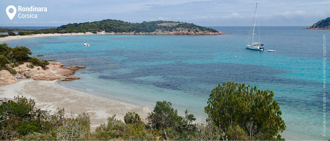 View of Rondinara Beach, Corsica