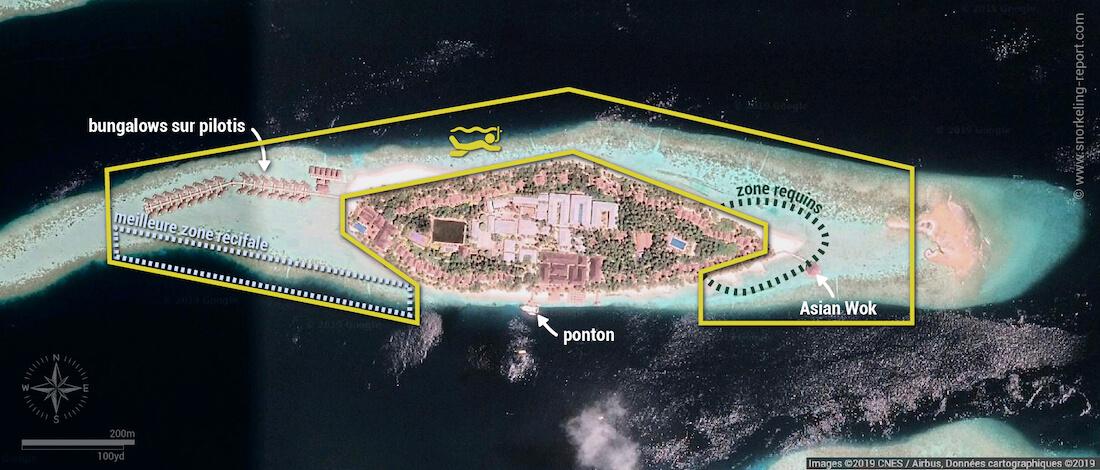 Carte snorkeling à Vilamendhoo, Maldives