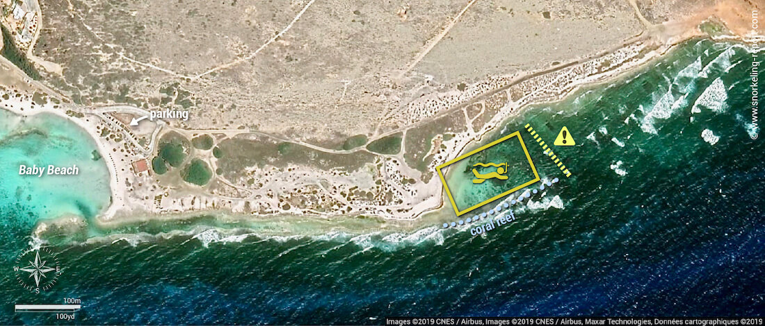Colorado Point snorkeling map