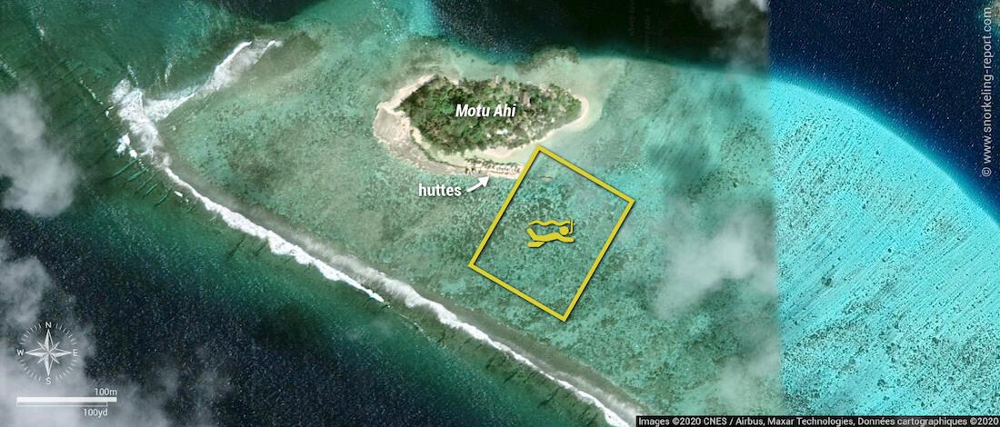 Carte snorkeling au Lagoonarium