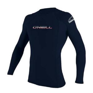 O'Neill Men's Basic Skins UPF 50+ Long Sleeve Rash Guard front