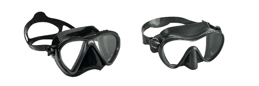 Single vs double lens snorkeling masks