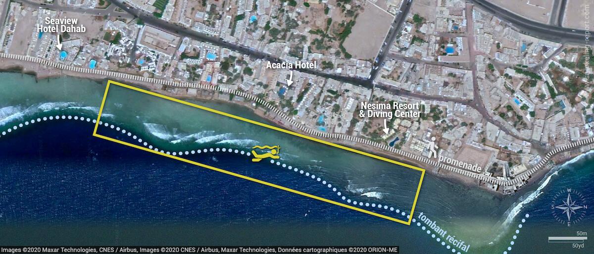 Carte snorkeling à Mashraba, Dahab
