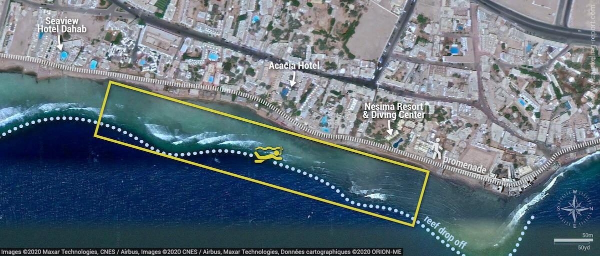 Mashraba snorkeling map, Dahab