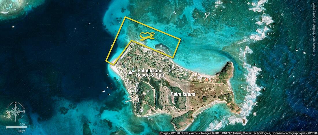 Palm Island snorkeling map