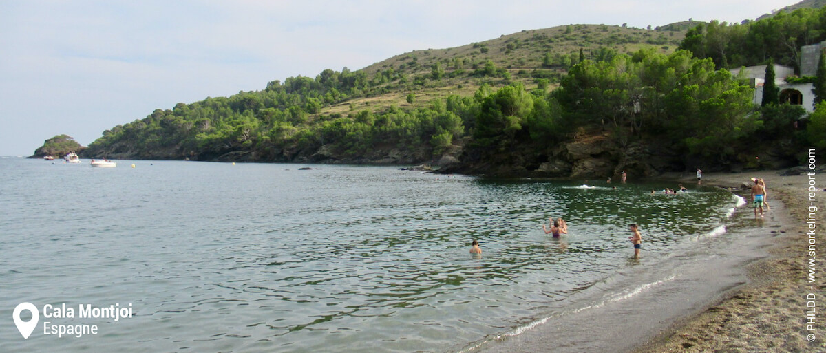 La plage de Cala Montjoi