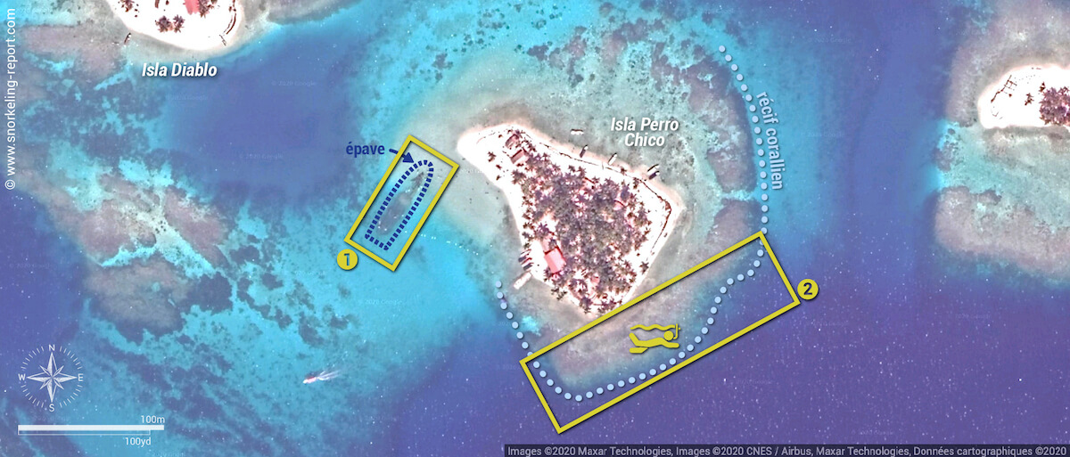 Carte snorkeling à Isla Perro Chico